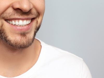 closeup of man smiling